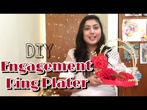 Ring Plate for Engagement | how to make ring plate | DIY trousseau gift packing | payal bhalani