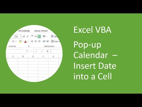 Excel Pop-up Calendar #7 Insert Date Into Cell from DateTime Picker Control (VBA)