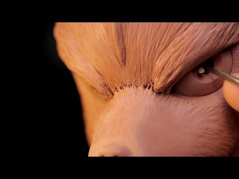 Sculpting Fox McCloud from Starfox Traditionally - Sculpture_Geek