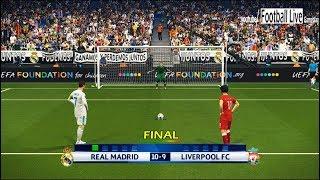 PES 2018 | Real Madrid vs Liverpool | Final UEFA Champions League (UCL) | Penalty Shootout