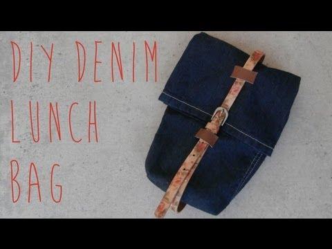 SEWING TUTORIAL :: DIY Denim Lunch Bag