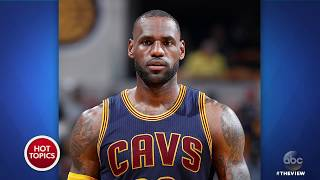 lebron james home vandalized with racial slur the view