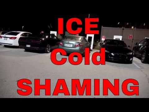 Black Friday ICE Hole Shaming Blocked Supercharger