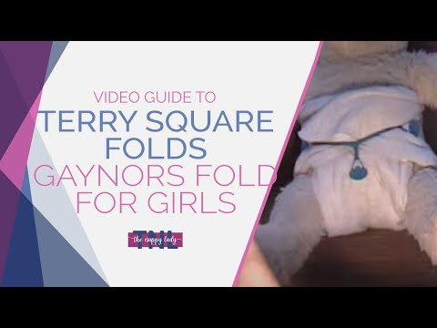 Terry Square Folds - Gaynors Fold For Girls by The Nappy Lady