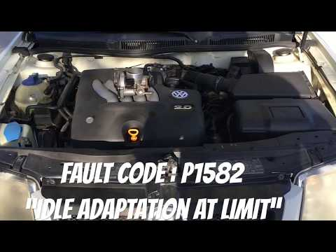 Volkswagen VW Jetta Golf MK4 Replace Throttle Body To Clear Fault Codes P1582