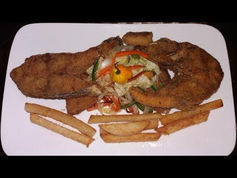 Crunchy, Fried Sliced Fish