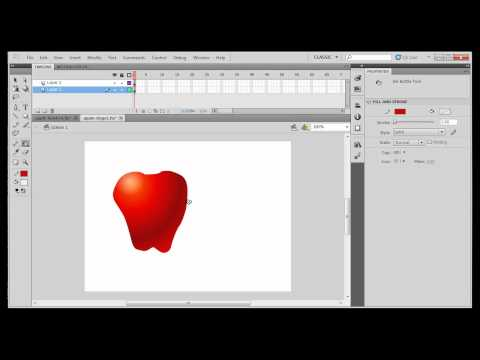 Beginning Drawing with Flash CS5 -Transparent Gradients Highlights and Shadows- Part3