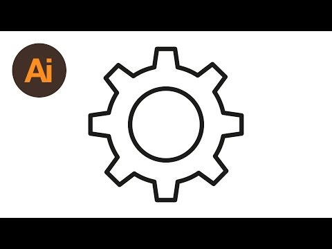 Learn How To Draw a Cog Settings Icon in Adobe Illustrator | Dansky
