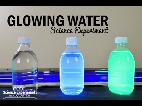 Glowing Water Science Experiment