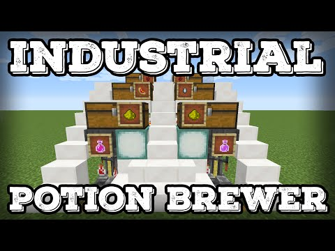 Minecraft Tutorial - Industrial Potion Brewing Station(1.12+)