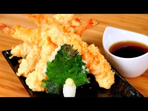 Shrimp Tempura Recipe  |  How to Stretch Shrimp for Tempura  |  Tempura Shrimp
