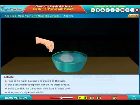 Make Your Own Magnetic Compass Class VI Physical science |  Digital Teacher