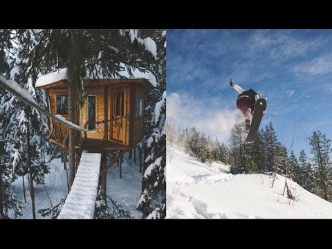 Treehouses, snowboards, and Ziplines - North Idaho Winter Vibes