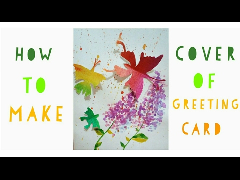 How to make Greeting card with cotton swabs | very easy greeting card