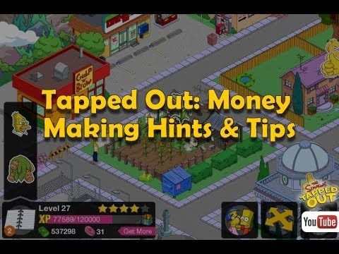 The Simpsons Tapped Out: Money Making Hints & Tips