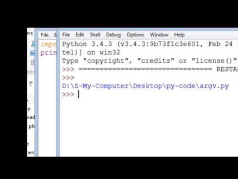 How to pass command line argument to a Python program - argv Python video tutorial in Bangla