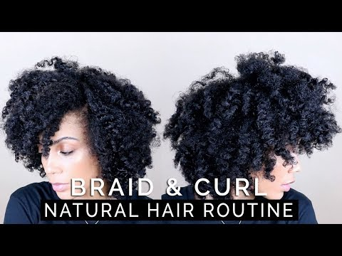 HOW TO: Braid & Curl - WASH TO STYLE || Curly Fro