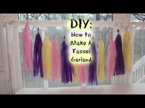 DIY: Tassel Garland Tutorial