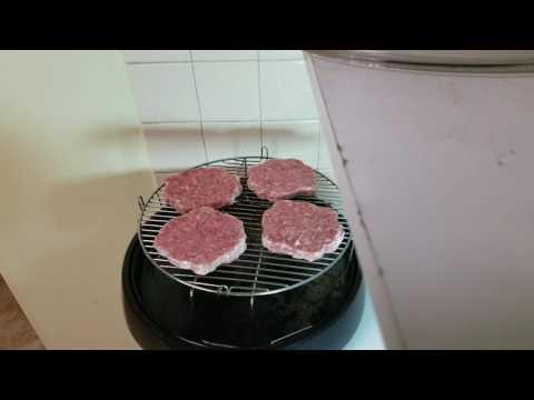 Nuwave Oven  ( Frozen Superbowl Burgers )