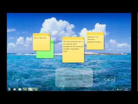 Sticky Notes demo video - Evernote Developer Competition 2011 candidate