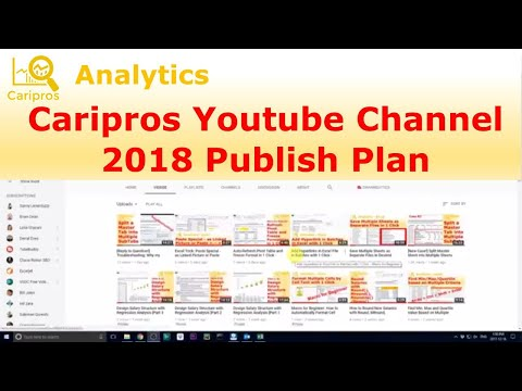 [Last Video 2017!] 2018 Youtube Channel Publish Plan for Caripros HR Analytics