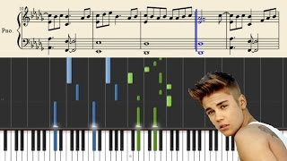 Justin Bieber - What Do You Mean - Piano Tutorial + Sheets