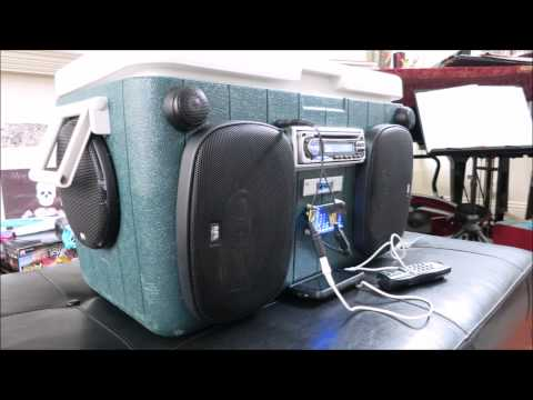My DIY cooler boombox - behind the scene