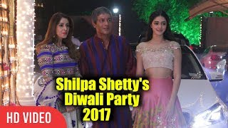 Download Chunkey Pandey With Daughter Ananya Pandey At Shilpa Shetty's Diwali Grand Party 2017 Video