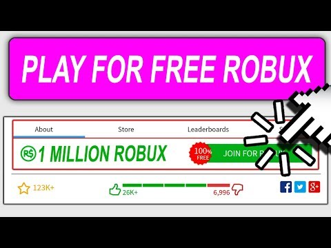 PLAY THIS ROBLOX GAME FOR FREE ROBUX ...