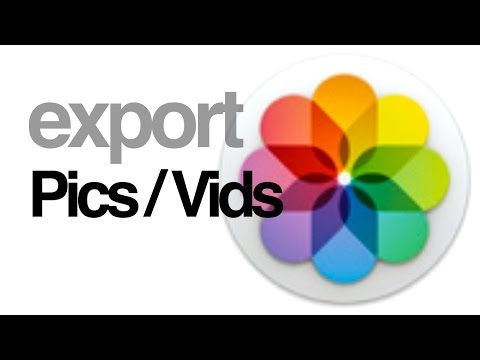 How to export pictures videos from PHOTOS app in Mac Yosemite