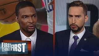 Clippers aren't favorites in the West with Paul George injury —Chris Bosh | NBA | FIRST THINGS FIRST