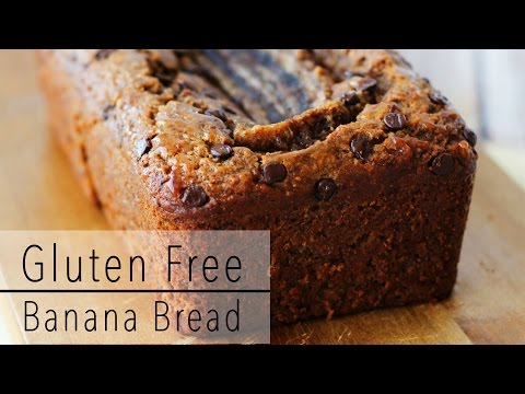 GLUTEN FREE BANANA BREAD Recipe with CHOCOLATE and Almond Butter - Healthy & Delicious!