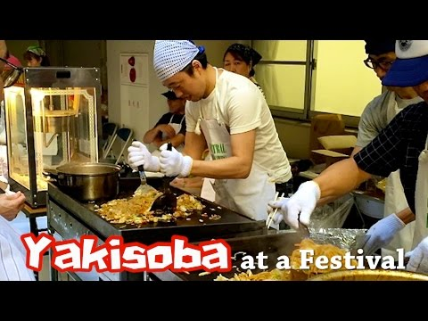 How to Make Yakisoba at a Festival | OCHIKERON | Create Eat Happy :)