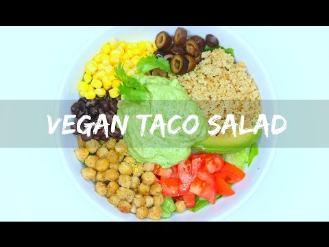 Healthy Taco Salad Bowl ♡ VEGAN & GLUTEN FREE