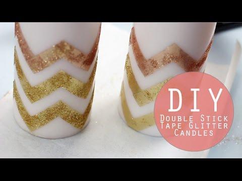 DIY Glitter Candles   Holiday Crafting