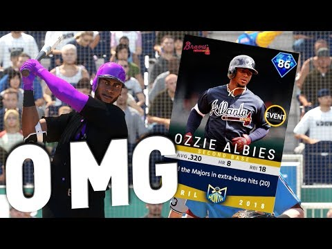 DIAMOND OZZIE ALBIES DOES THE IMPOSSIBLE! MLB THE SHOW 18 ROSTER UPDATE DRAFT