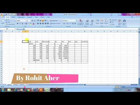fitting of normal distribution using MS-Excel--ROHIT AHER