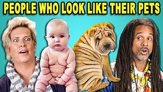 10 PHOTOS OF PEOPLE WHO LOOK LIKE THEIR PETS w/ ADULTS (React)
