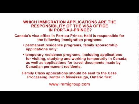 Which immigration applications are the responsibility of the visa office in Port-au-Prince?