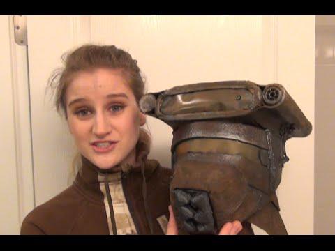 How to Part 2 DIY Leia Boushh Bounty Hunter - Costume Tutorial