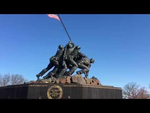 The Iwo Jima Memorial - sculptor - Felix de Weldon - by Dan Gritsko