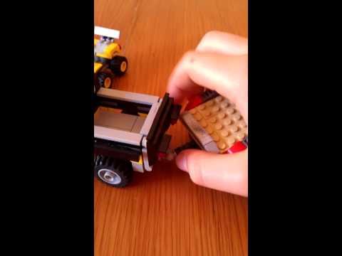 Lego truck, trailer, and ATV
