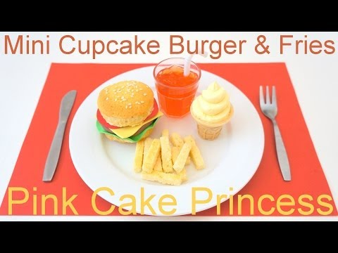 April Fools' Prank Trick Food Recipe - Mini Cupcake Burger & Fries Meal by Pink Cake Princess