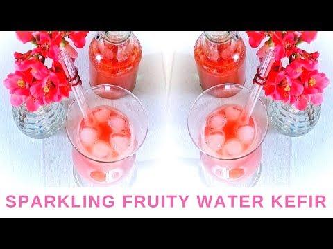 Sparkling fruity water kefir wine - 2nd ferment - healthy probiotics