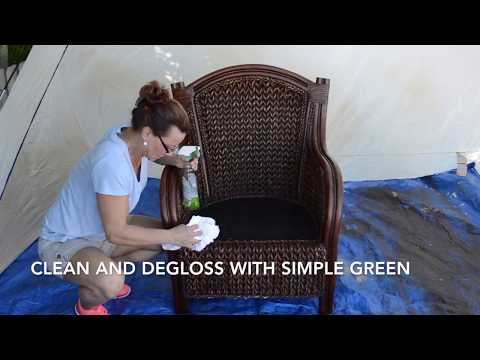 How to Paint Wicker Furniture with a Paint Sprayer