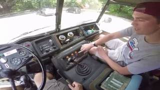 Driving a Swedish Millitary Vehicle for the First Time