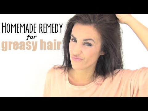 Homemade remedy for greasy hair