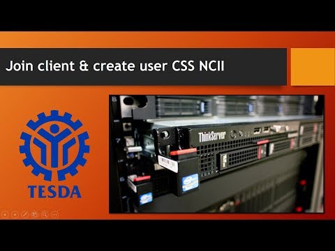 Join client to domain & create user CSS NCII