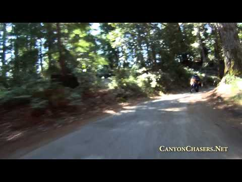 Motorcycle ride on China Grade Road in California