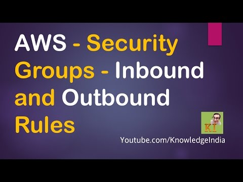 AWS - Security Groups DEMO - Inbound and Outbound Rules - Security on Cloud